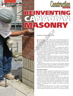 Reinventing Canadian Masonry