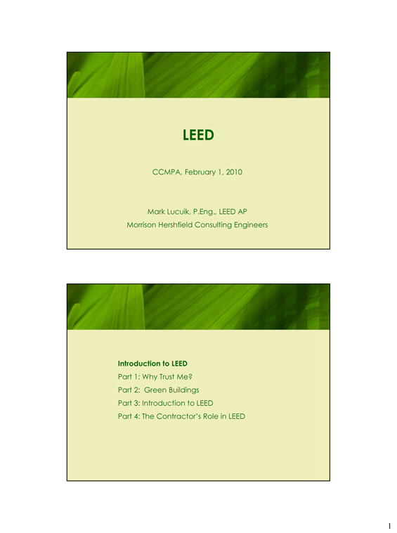 CCMPA Leed Report